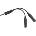 Avid Products IFE Headset Splitter, Black
