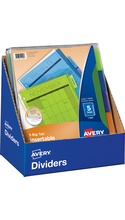 Avery Big Tab Insertable Divider Counter Display