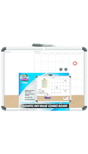 Board Dudes Alumimum Framed Magnetic Combination Board