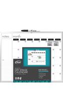 Board Dudes Framed Magnetic Dry-Erase Calendar Board