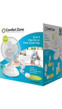 Comfort Zone Combination Desk/Clip Fan