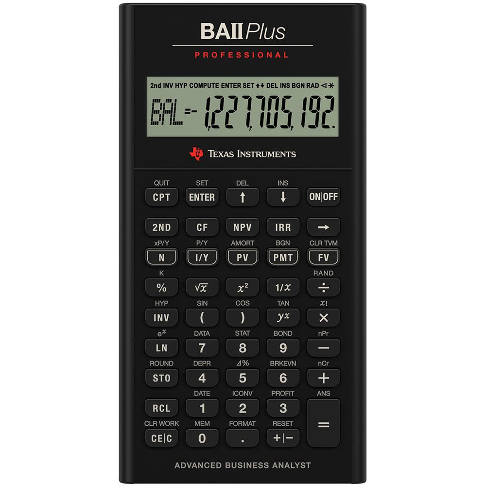 TI BA II Plus Professional Financial Calculator