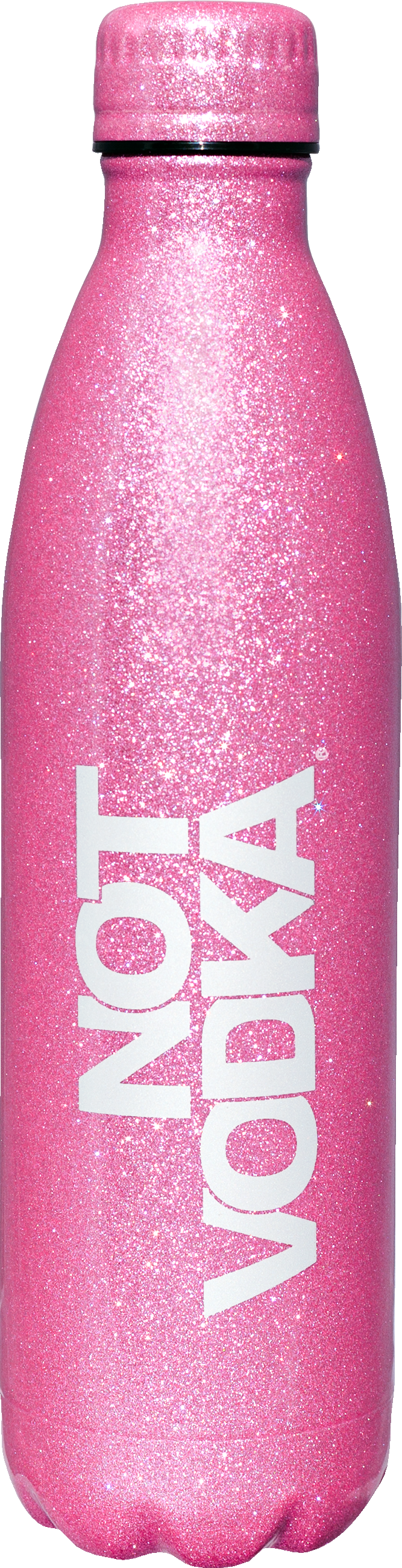 Glitter Series Insulated Water Bottle  Rose, PACKAGE 1Ct