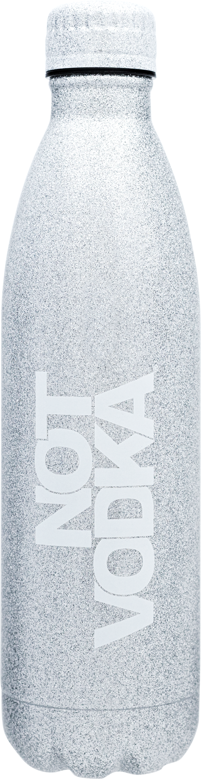 Glitter Series Insulated Water Bottle  Silver, PACKAGE 1Ct