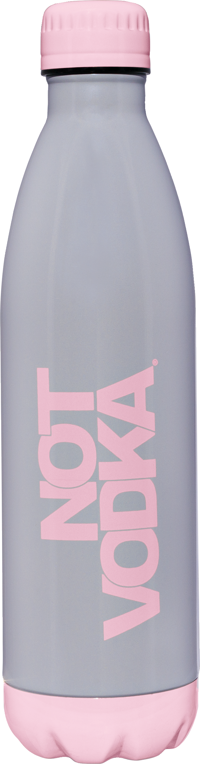 Two Tone Series Insulated Water Bottle  Gray/Pink, PACKAGE 1Ct