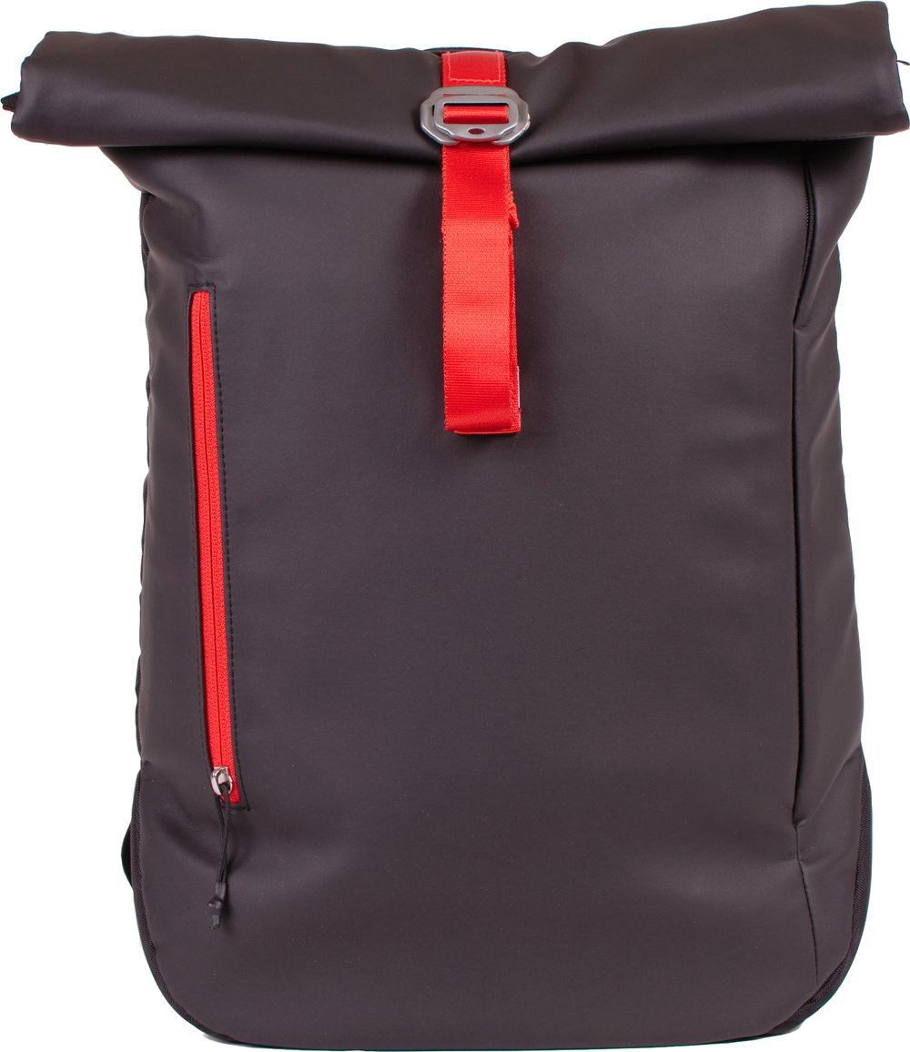 North Point Roll-Top Backpack  Black/Orange