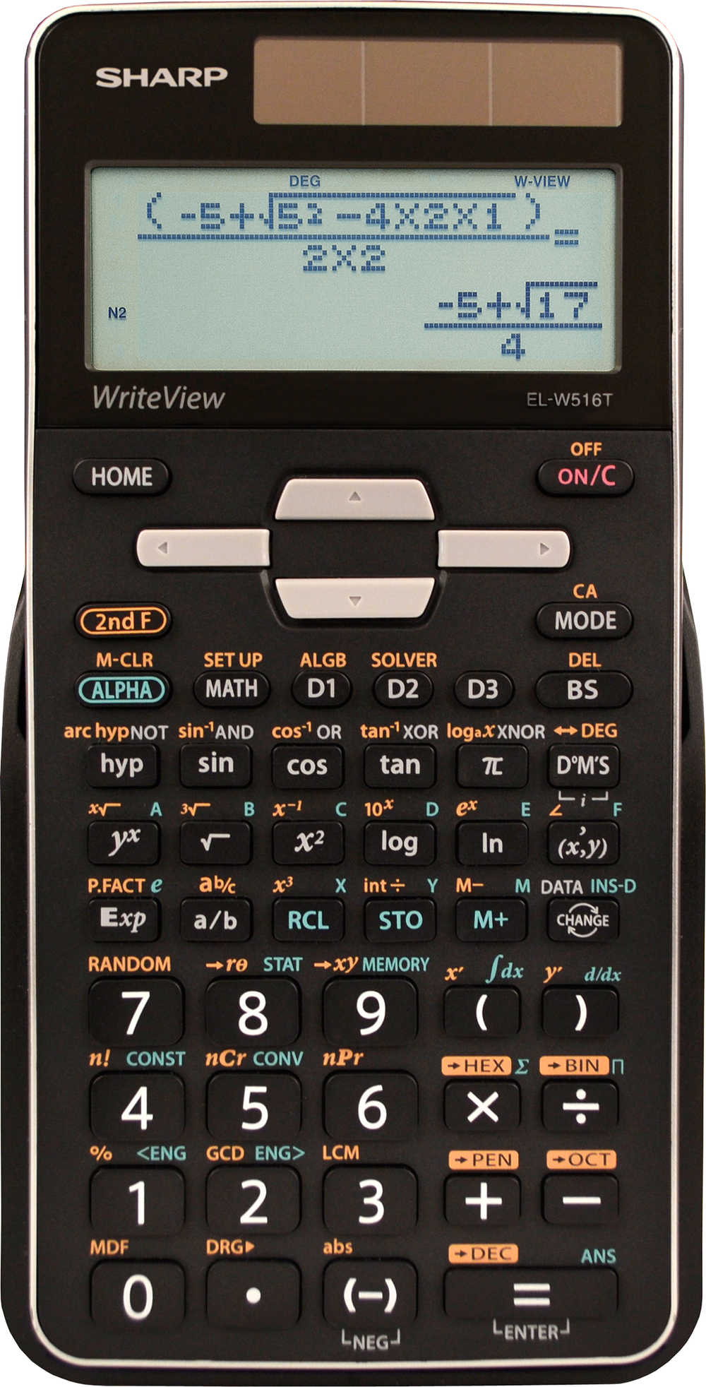 EL-W516TBSL Advanced Scientific Calculator with WriteView  Silver, PACKAGE 1Pk