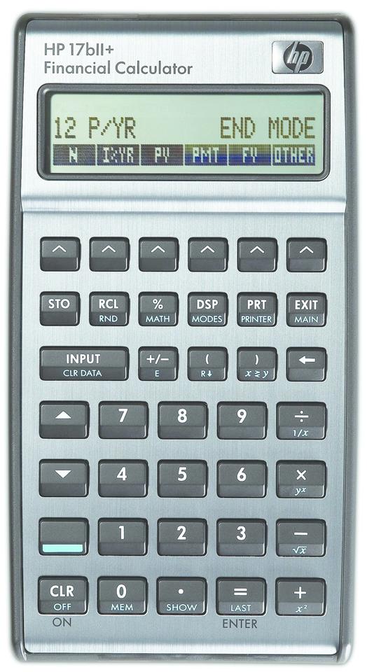 17BII Plus Financial Calculator  Black/Silver, PACKAGE 1Pk