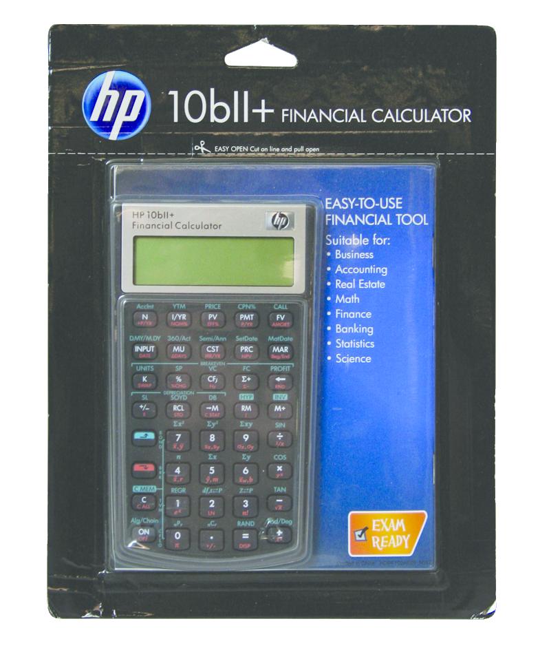 10BII+ Business Calculator  Black, PACKAGE 1Pk