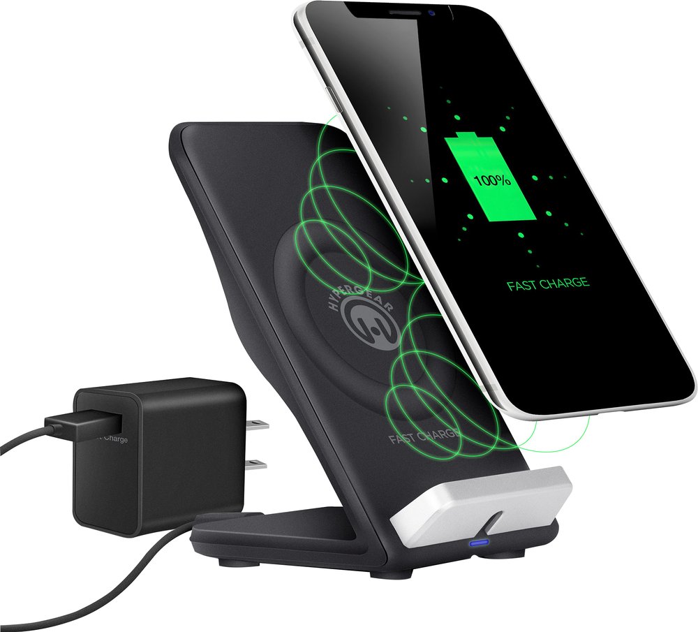 Wireless Fast Charging Stand Bluetooth Black
