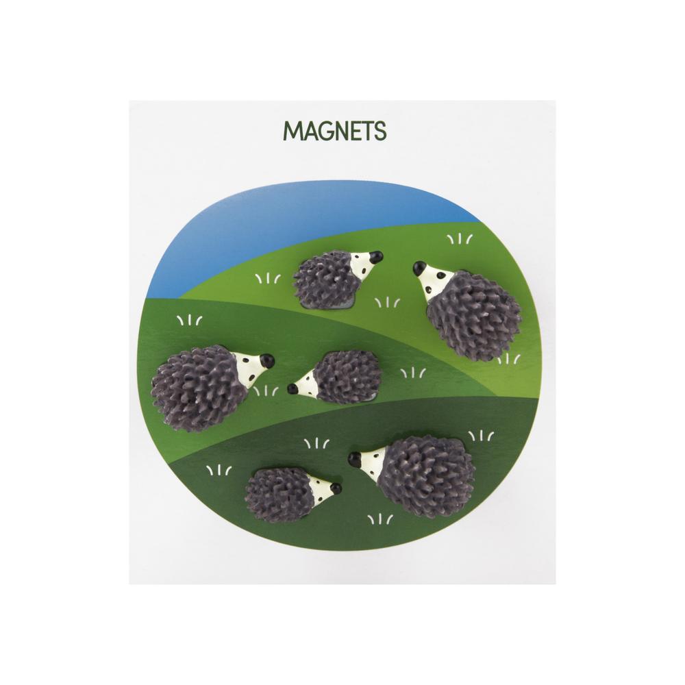 Polyresin Animal Magnets Hedgehog Multi, PACKAGE 6Pk
