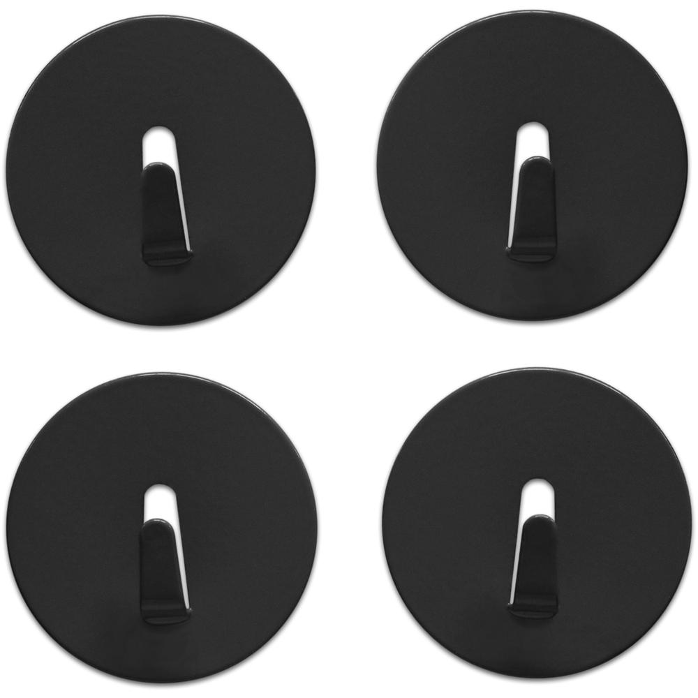 Spot On! Magnet Hook  Black, PACKAGE 4Pk