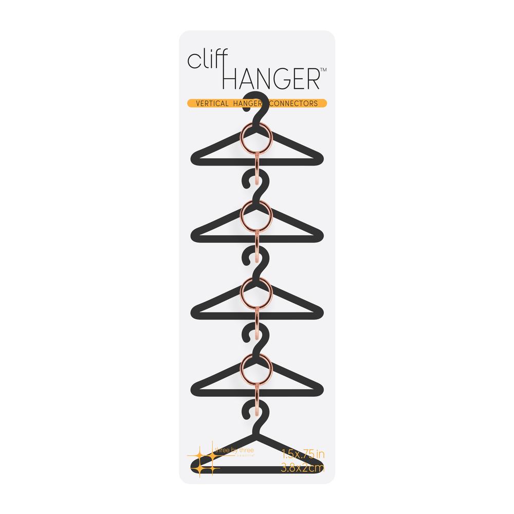 Cliffhanger Hanger Connectors  Copper, PACKAGE 4Pk