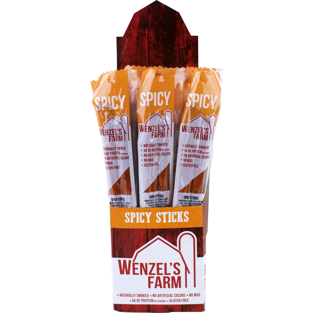 Beef Snack Stick Display 2Pk/Spicy , PACKAGE 16Ct