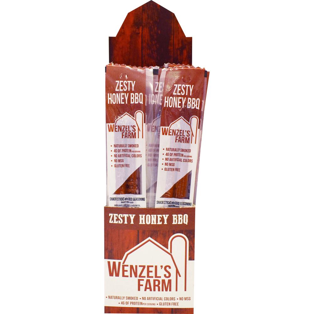 Beef Snack Stick Display 2Pk/Zesty Honey BBQ , PACKAGE 16Ct