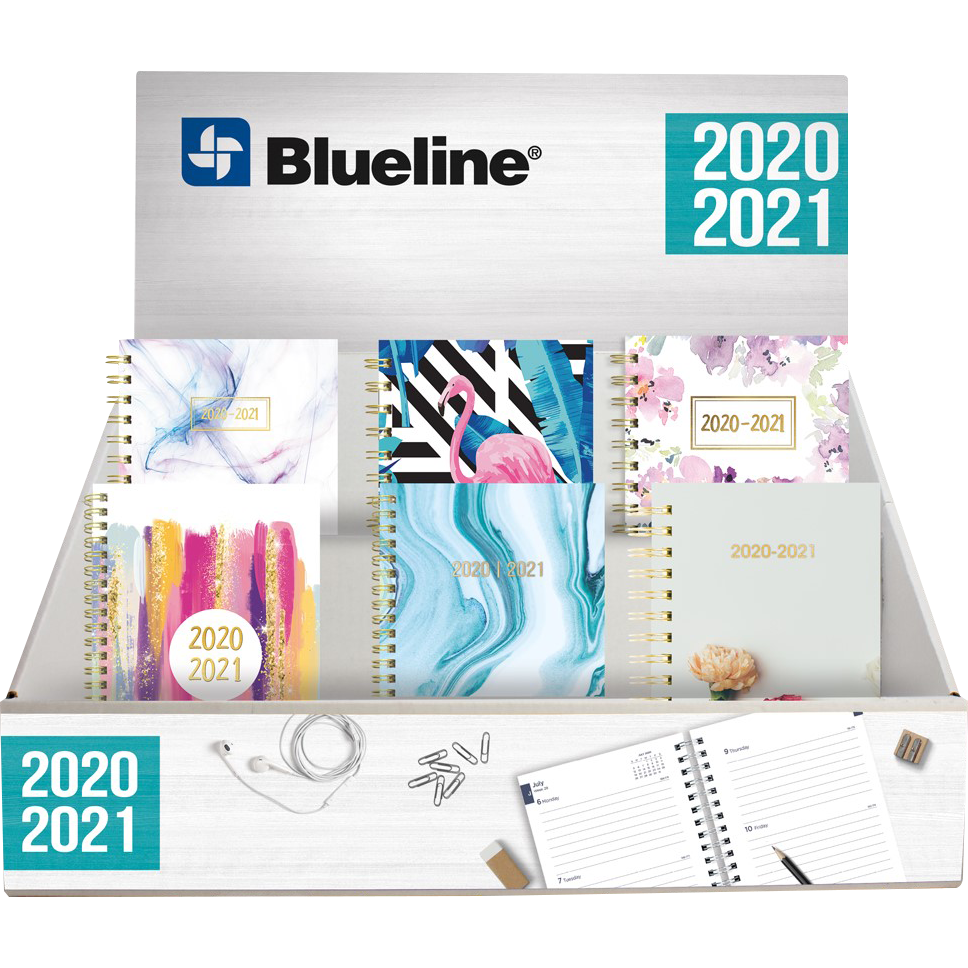 Blueline Weekly/Monthly Planner Display AY 20/21 Asst, PACKAGE 36Ct