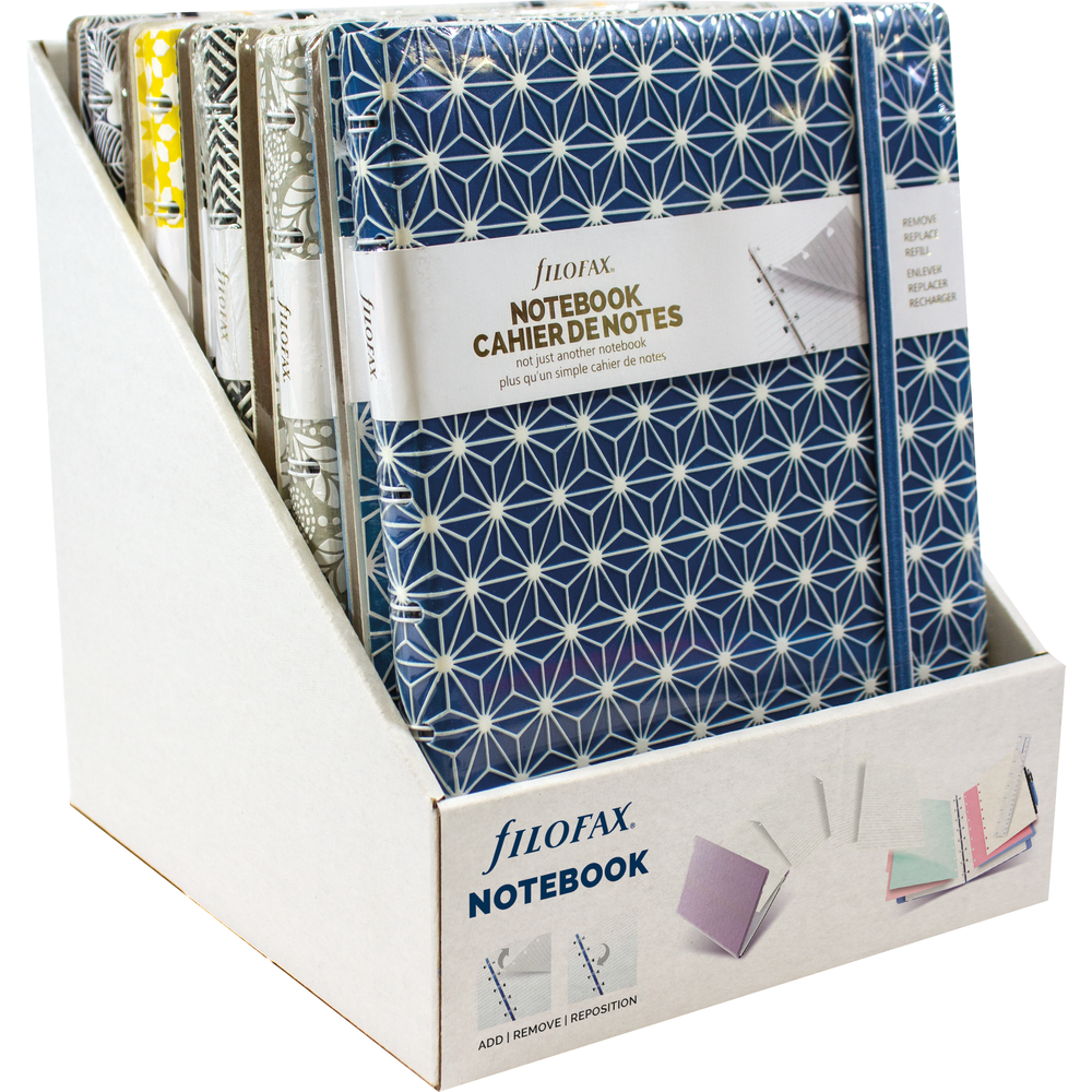 Filofax Notebook Display Impression Collection Asst, PACKAGE 10Ct