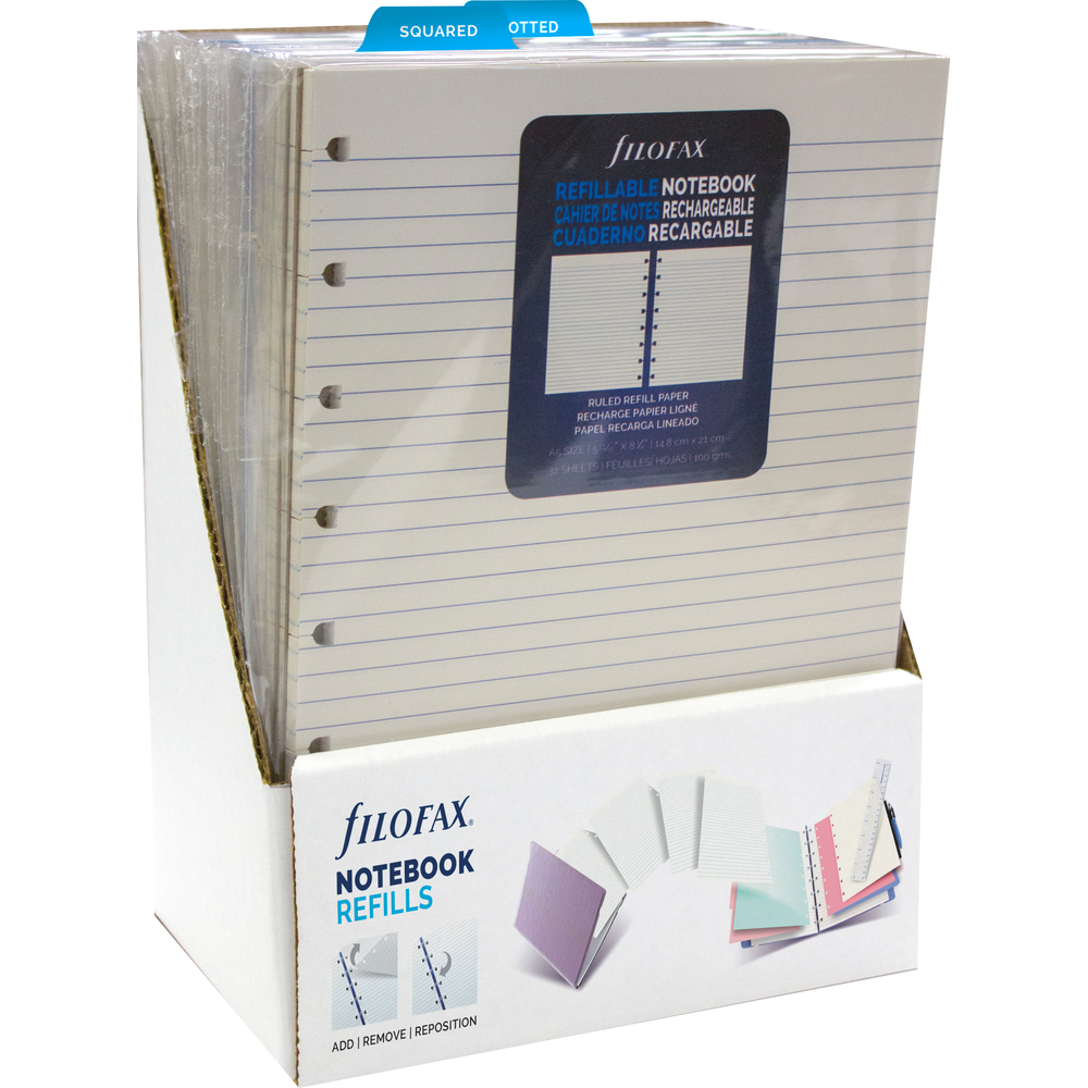 Filofax A5 Refill Display  White, PACKAGE 15Ct