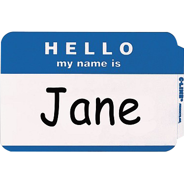 Self-Adhesive Name Badge Hello Blue, PACKAGE 20Pk