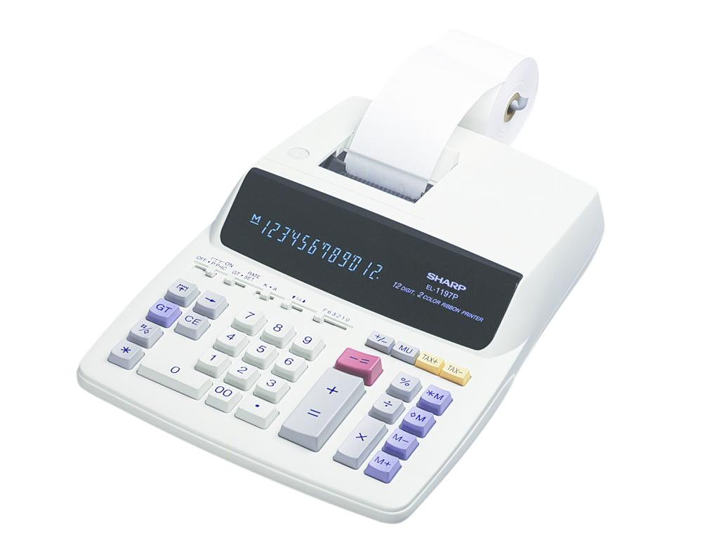 EL-1197PIII Printing Calculator  White, PACKAGE 1Ct