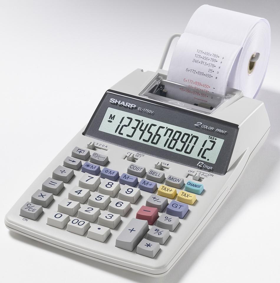 EL-1750V Printing Calculator  Gray, PACKAGE 1Ct