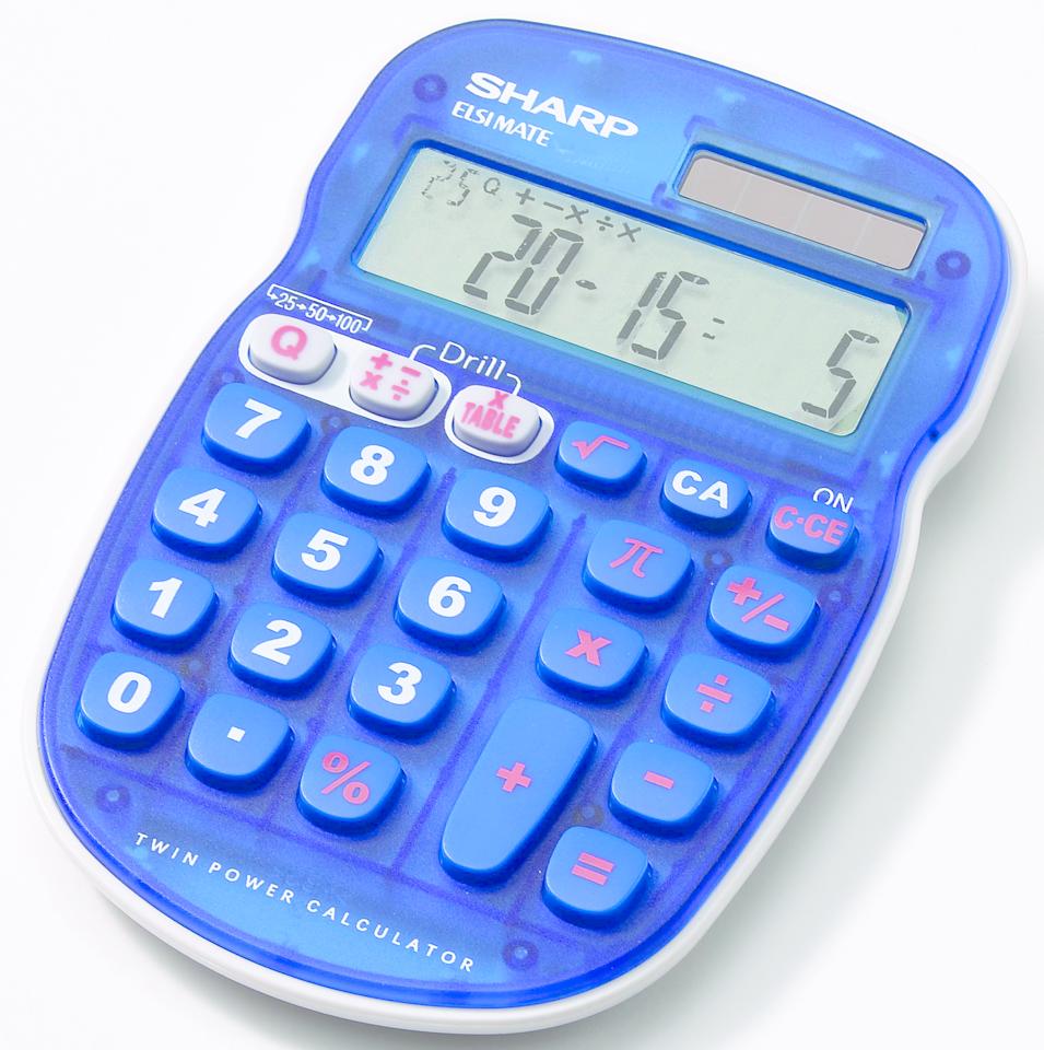 EL-S25BBL Quiz Calculator  Blue, PACKAGE 1Pk