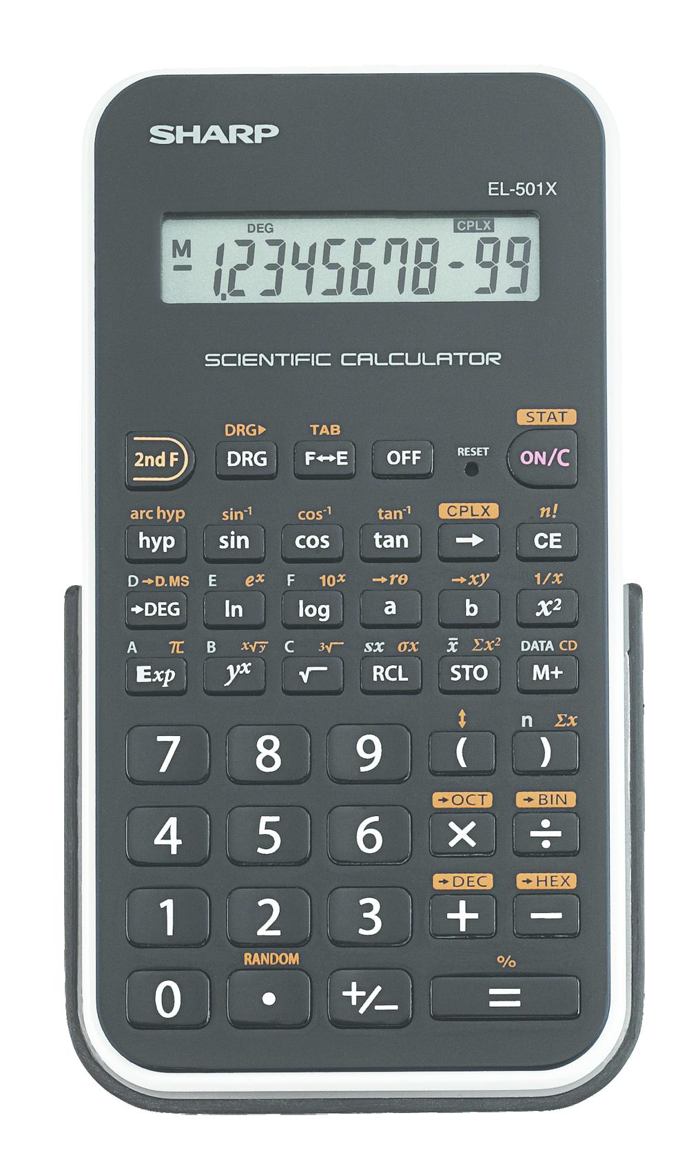 EL-501X Basic Scientific Calculator  White, PACKAGE 1Pk