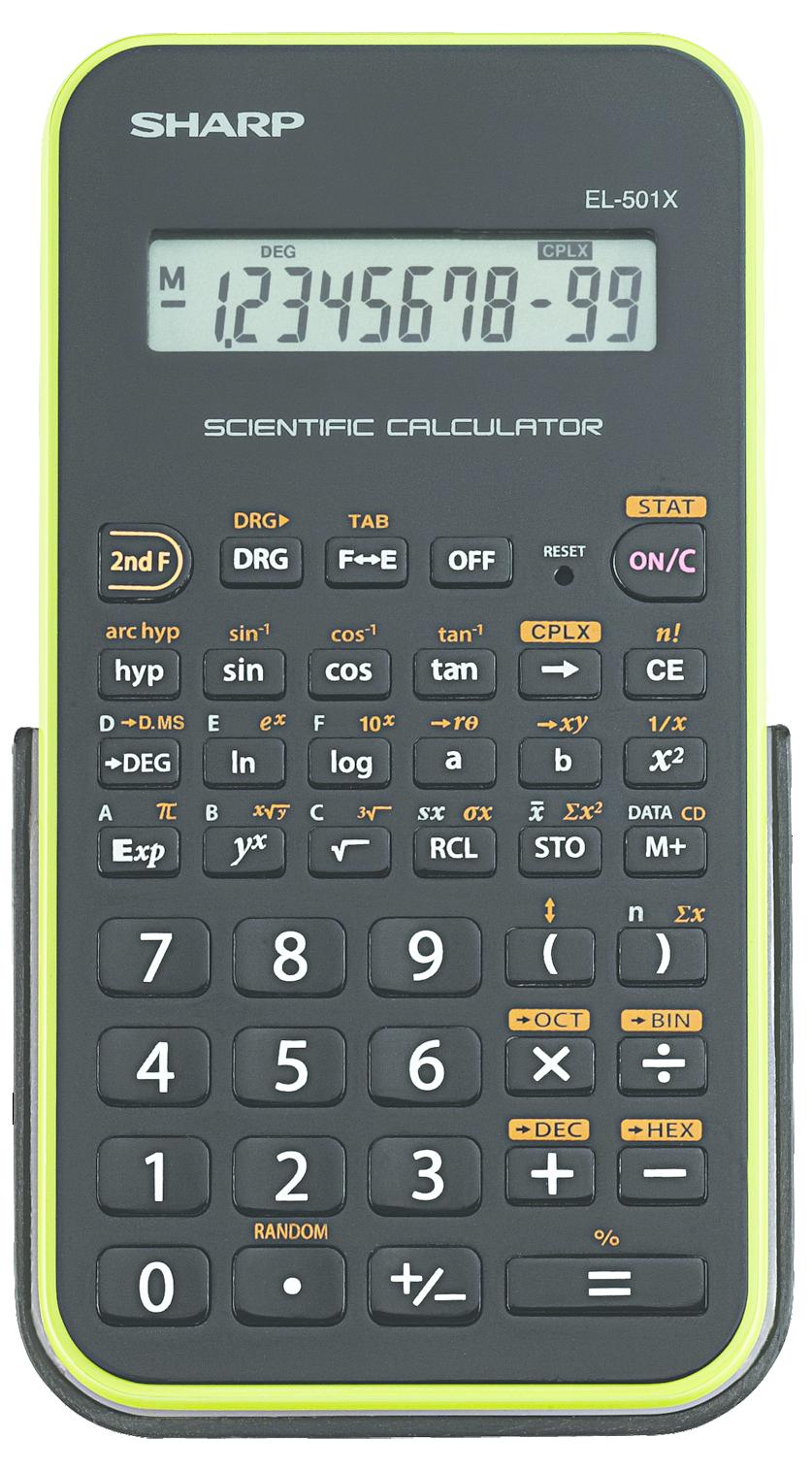 EL-501X Basic Scientific Calculator  Green, PACKAGE 1Pk