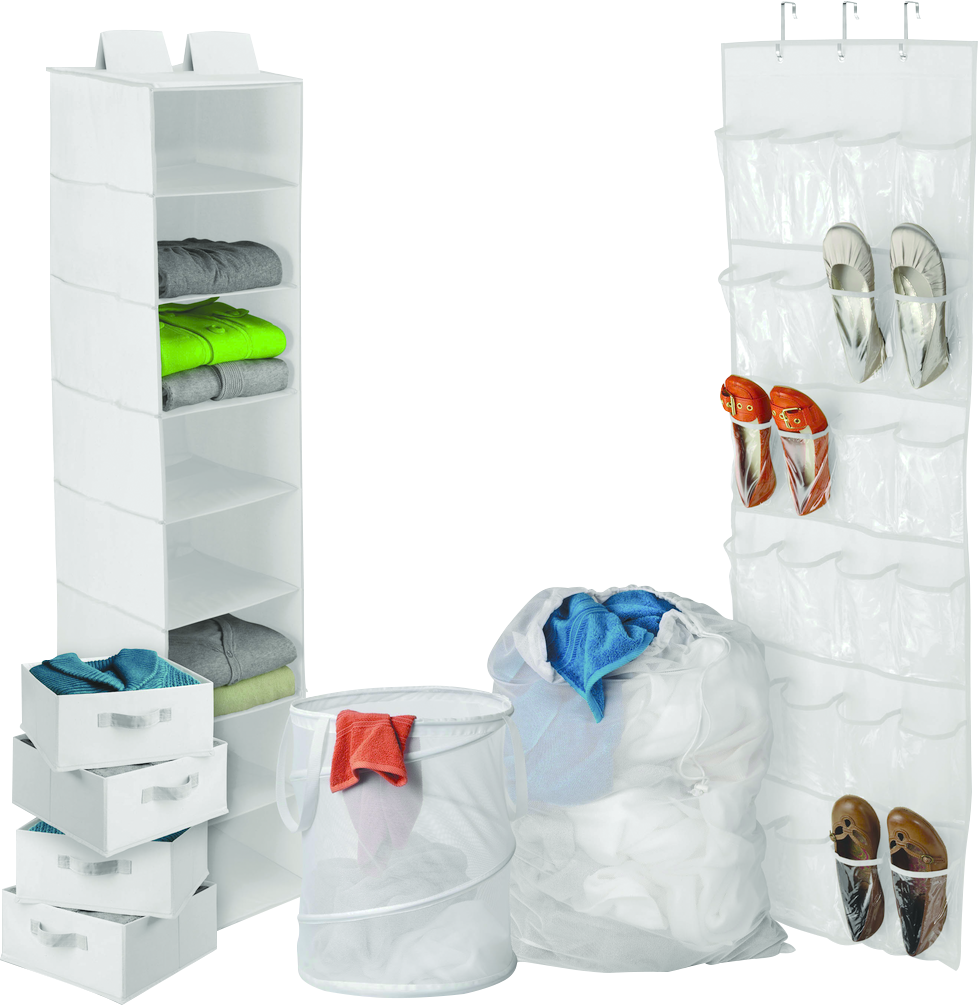Back-to-School Home Organization Kit  White, PACKAGE 8Pc image