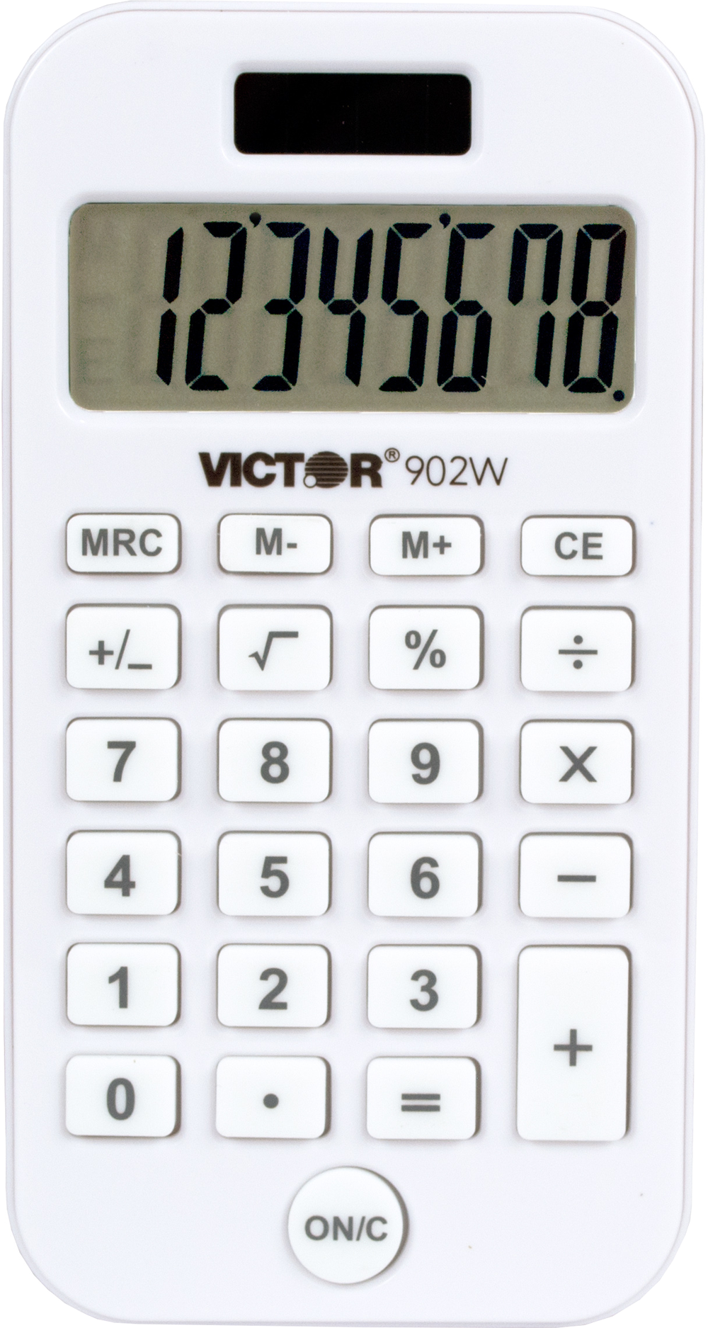 902W Recycled Antimicrobial Pocket Calculator  White, PACKAGE 1Pk